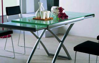 Обеденный раздвижной стол: как украсить кухню и сэкономить пространство