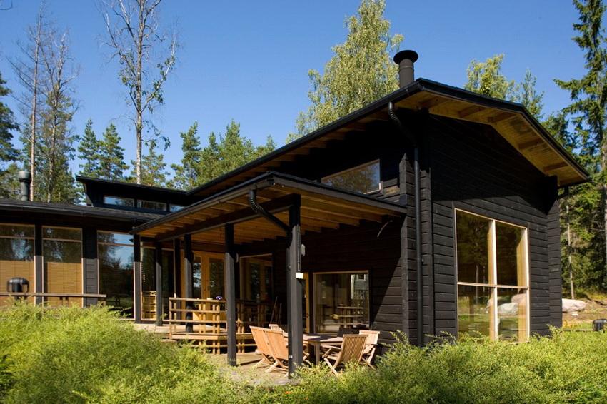 Финский дом строится исключительно из экологически чистых материалов