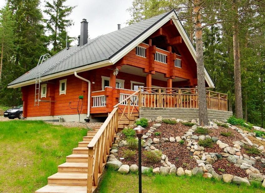 Клееный брус повсеместно используется для строительства теплых домов по финской технологии