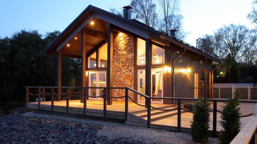 Все большую популярность набирают финские дома в полтора этажа