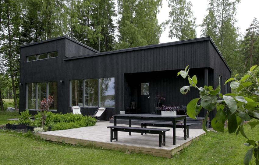 Для современных финских домов характерны однотонность дизайна и минимум декора