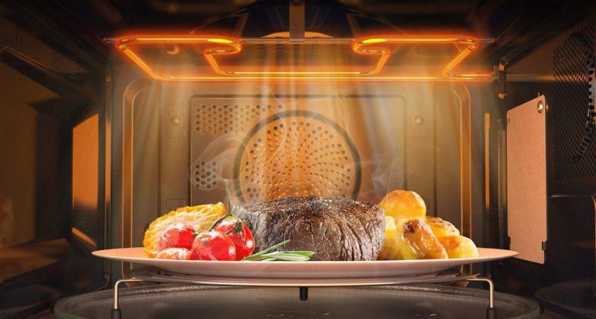 Микроволновая печь с грилем - это хороший выбор для любителей блюд из мяса