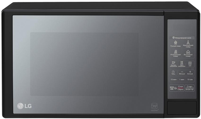 Многие модели микроволновых печей LG могут заменять духовой шкаф, пароварку и даже мультиварку, что дает возможность сэкономить место на кухне