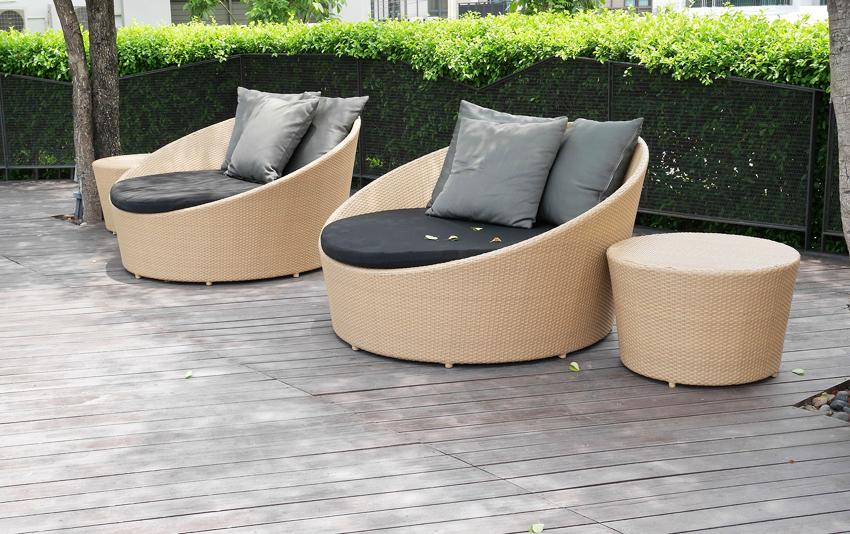 Современные производители предлагают широкий выбор садовой мебели из искусственного ротанга на любой вкус