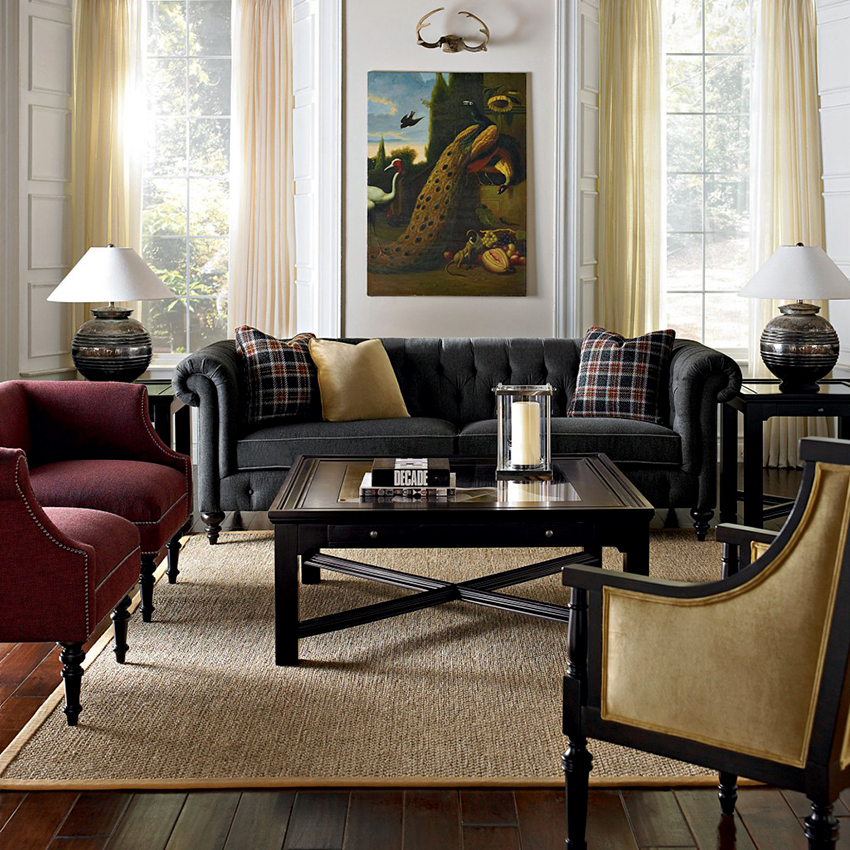 Английская гостиная должна быть комфортная и уютная, но при этом не терять респектабельности