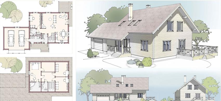 Перед началом создания чертежа нужно определиться с количеством жильцов дома