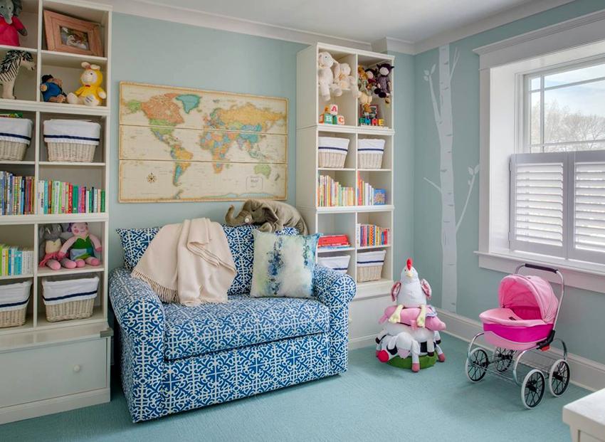 Кресло-кровать занимает мало места и позволяет задействовать больше площади для игр