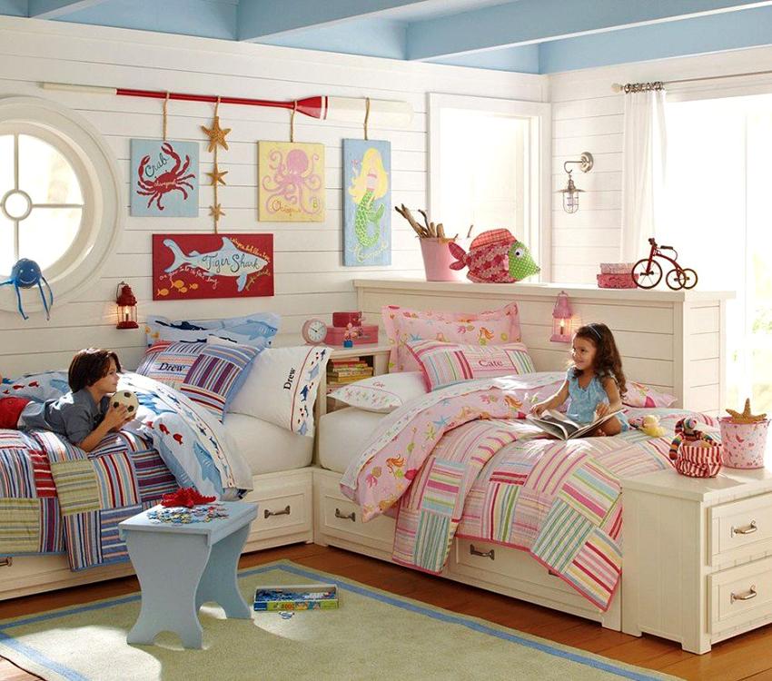 Детские кровати с ящиками позволяют существенно сэкономить площадь