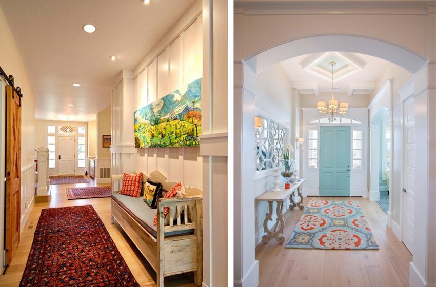 Яркие примеры оформления дизайна прихожей в доме