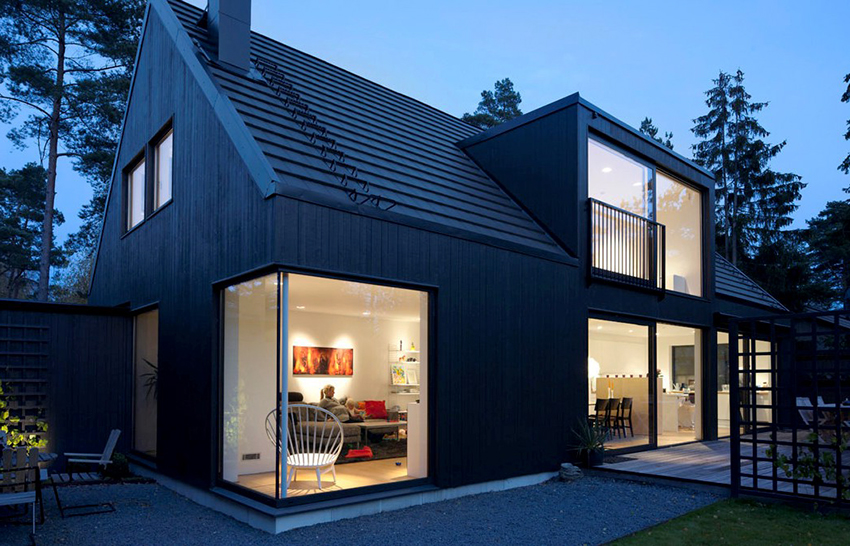 Дом в скандинавском стиле как нельзя лучше подойдет для дачи