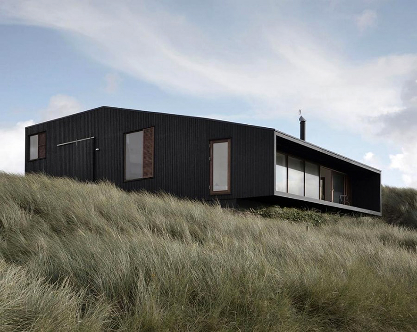 Отличительной чертой фасадов скандинавских домов является простота и минимализм