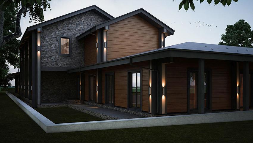 Для строительства скандинавских домов используются только натуральные материалы