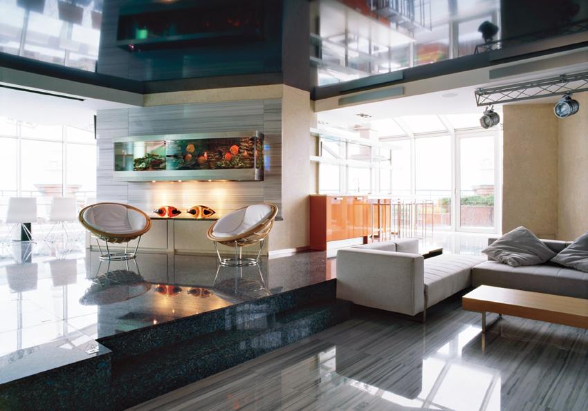 Мебель в интерьере стиля хай-тек отличается максимальной функциональностью и оригинальным дизайном
