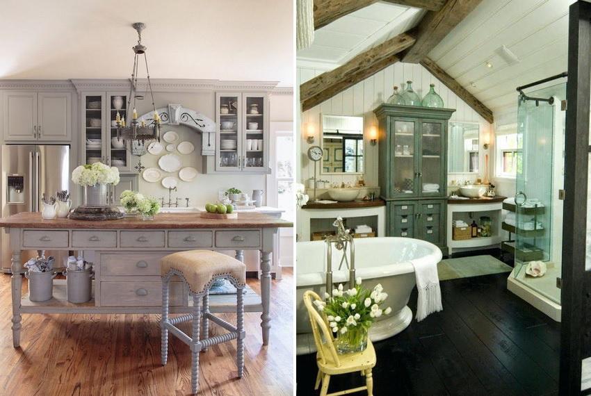 Стиль прованс позволяет гармонично перенести дух южной Франции в современный дизайн домов и квартир