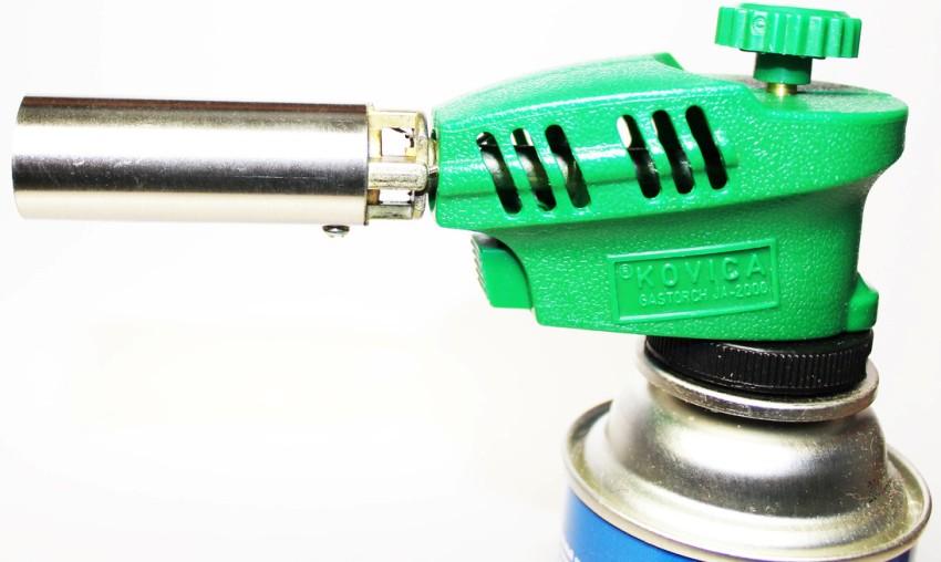 Газовые горелки на баллончике оснащены гибкой или поворотной трубкой и клапаном для регулировки пламени