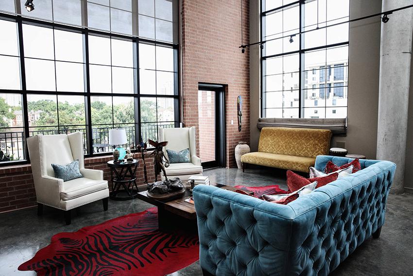 Помещение в стиле лофт должно быть максимально просторным, а потолки высокими