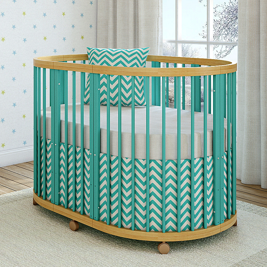 Кроватка с колесиками и регулируемым спальным местом – оптимальный вариант для новорожденного ребенка