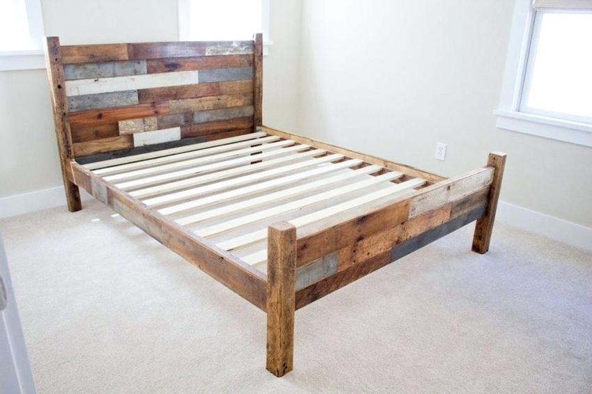 Основными элементами конструкции кровати являются каркас и основание