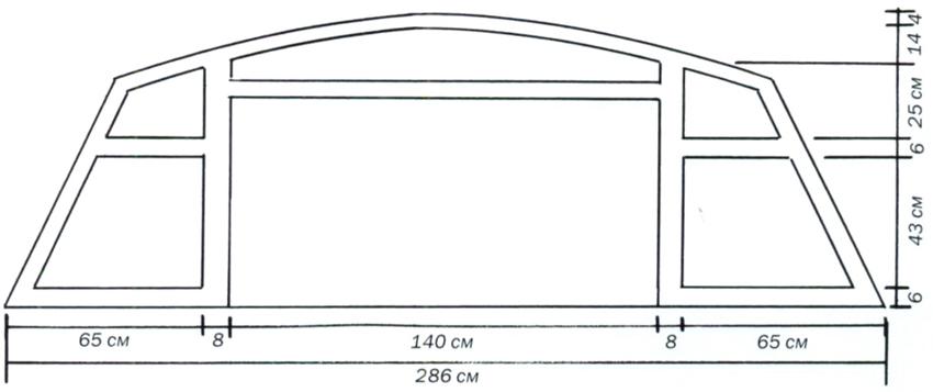 Схема изголовья для двуспальной кровати