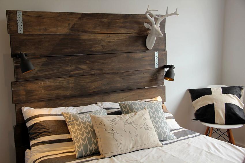 Изголовье для кровати можно сделать изюминкой спальни
