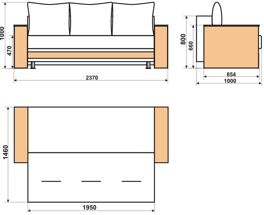 Схема изготовления дивана-кровати