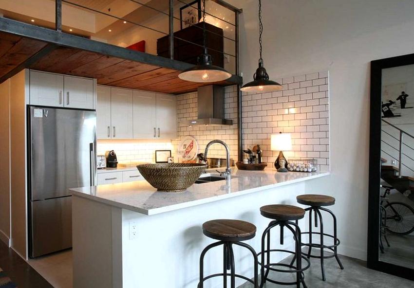 кухня в стиле лофт идеи для создания индустриальной лаконичности