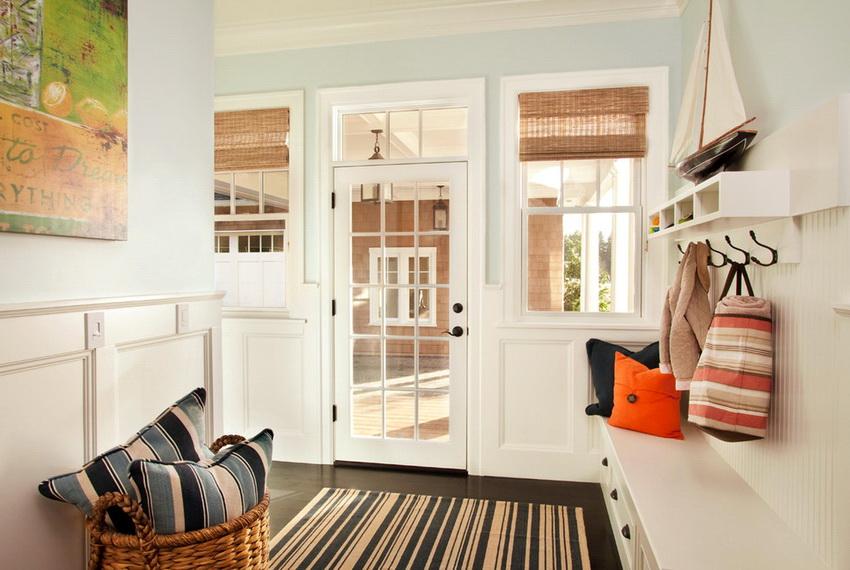 Дизайн входной зоны должен вписываться в общий интерьер дома