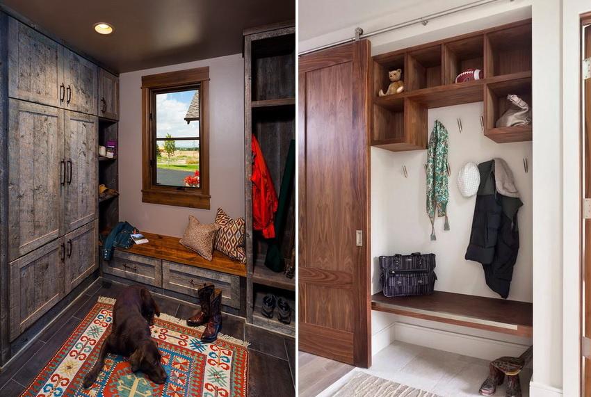 Для небольшой прихожей необходимо выбирать малогабаритный шкаф, лучше если он будет с раздвижными дверьми