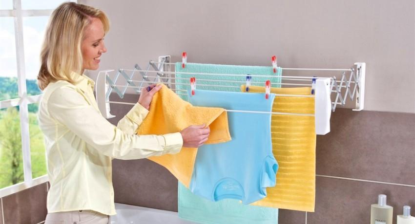 Настенные сушилки для белья: оптимальный выбор для небольших помещений
