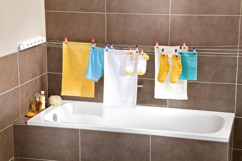 Размещение конструкции сушилки на слишком высоком уровне затрудняет развешивание белья