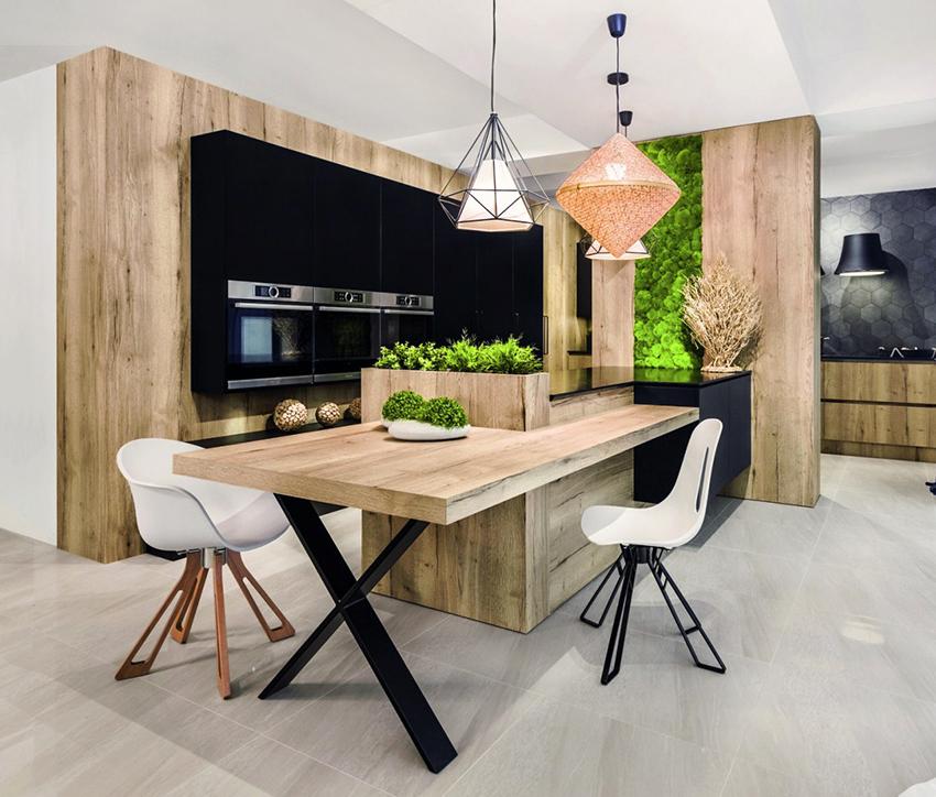 Обеденная группа должна гармонировать с другой мебелью в кухне