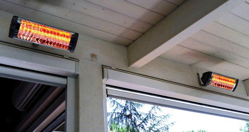 Подвесной инфракрасный прибор во время работы нагревает поверхности, которые располагаются в радиусе его действия