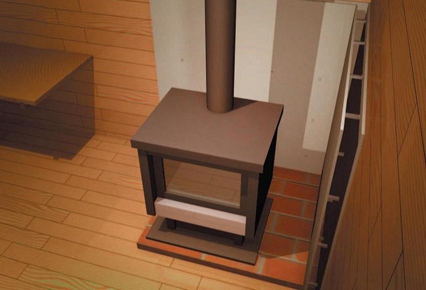 Печь в гараже нужно устанавливать согласно нормам пожарной безопасности