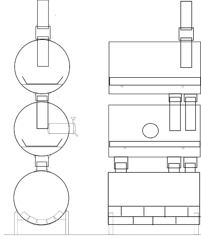 Перед началом самостоятельной сборки печки из бочки нужно составить схему конструкции
