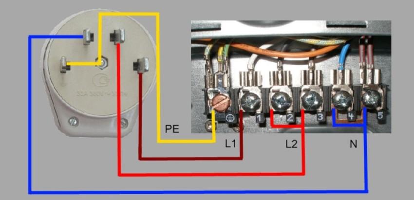 Двухфазная схема подключения элетропплиты 380 В