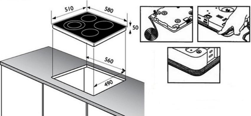 Для герметизации нужно проклеить прилагаемы производителем уплотнитель