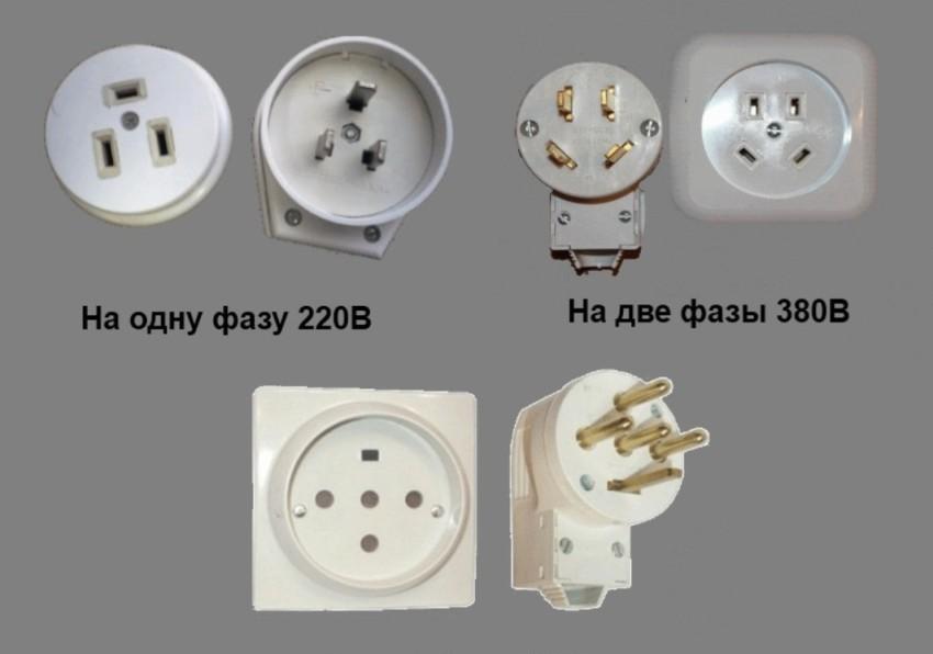 Розетки для подключения электроплиты