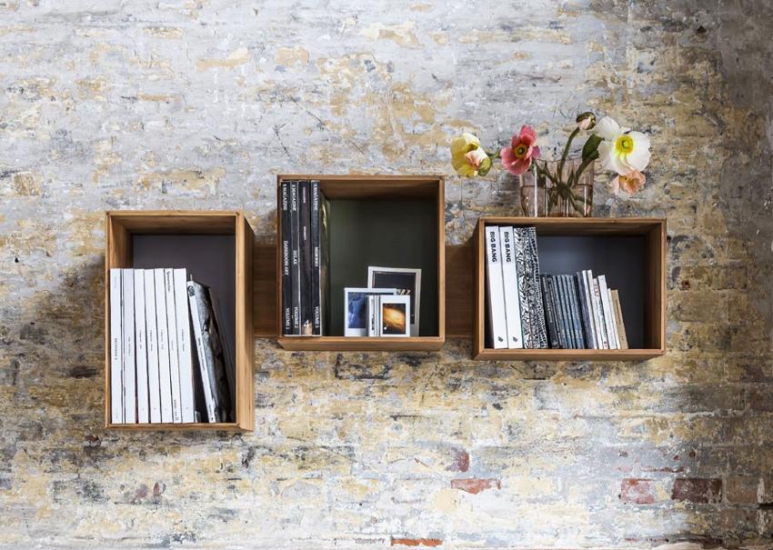 Ящики также можно использовать в качестве настенных полок