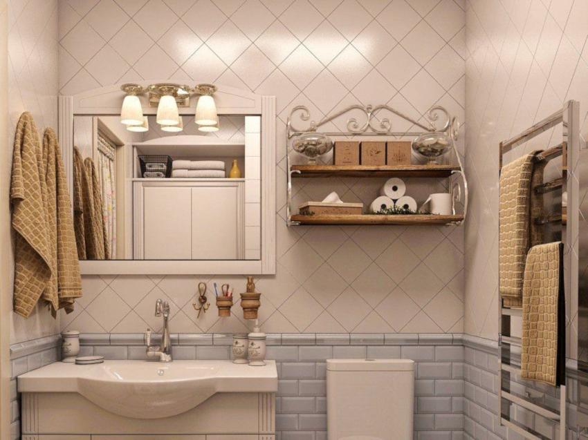Полки для ванной изготавливаются из влагостойких материалов или покрываются лаком