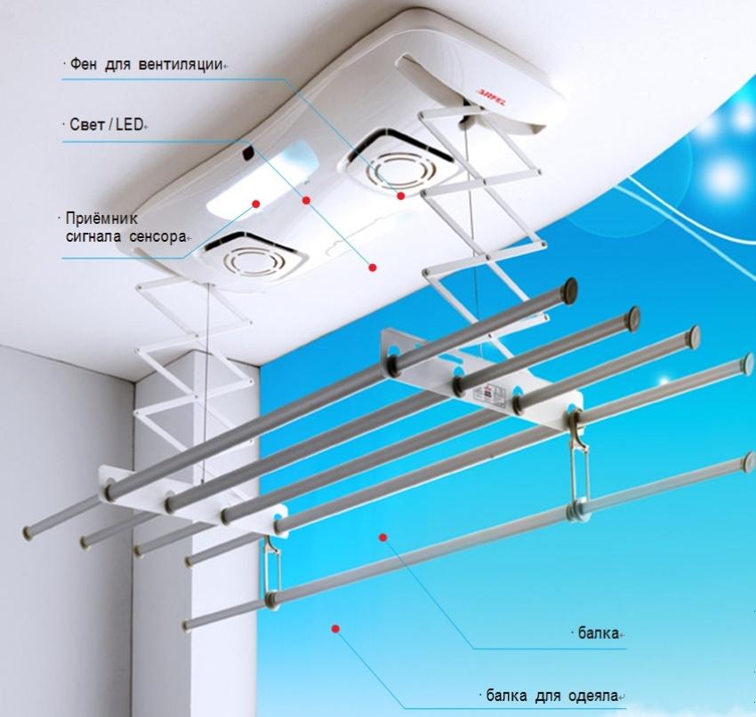 Для установки электрической сушилки на балконе понадобится розетка или удлинитель