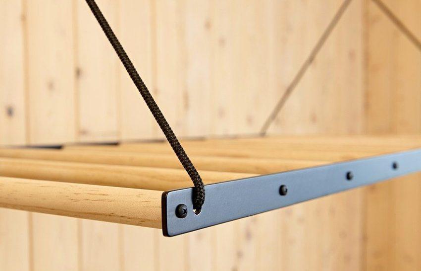 Деревянные части сушилки рекомендуется обработать специальными водозащитными составами, чтобы предотвратить порчу вещей