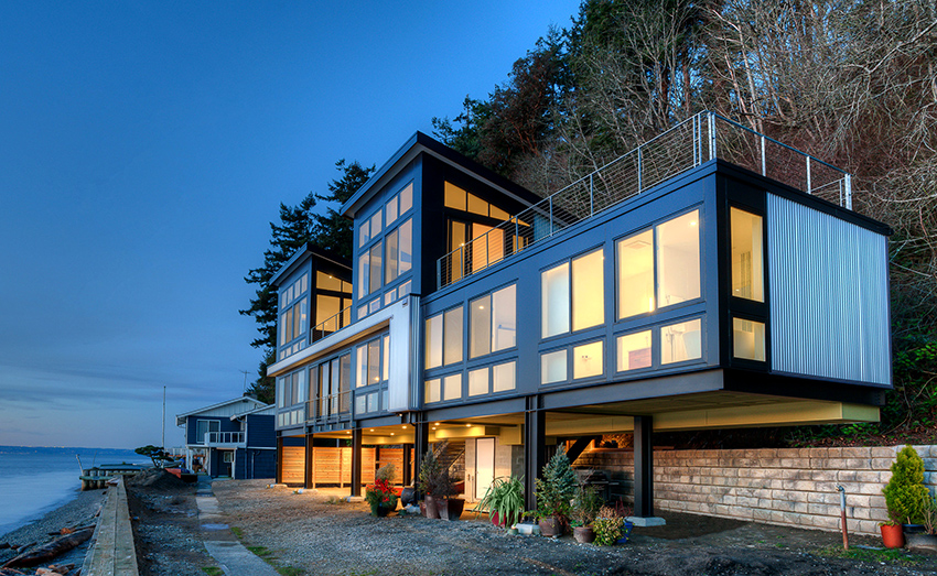 При проектировании современного дома в первую очередь внимание уделяется экономичности стройки
