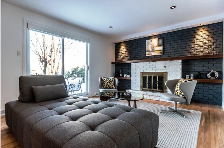 Главное правило в отделке жилых комнат – ее следует выполнять по направлению сверху вниз