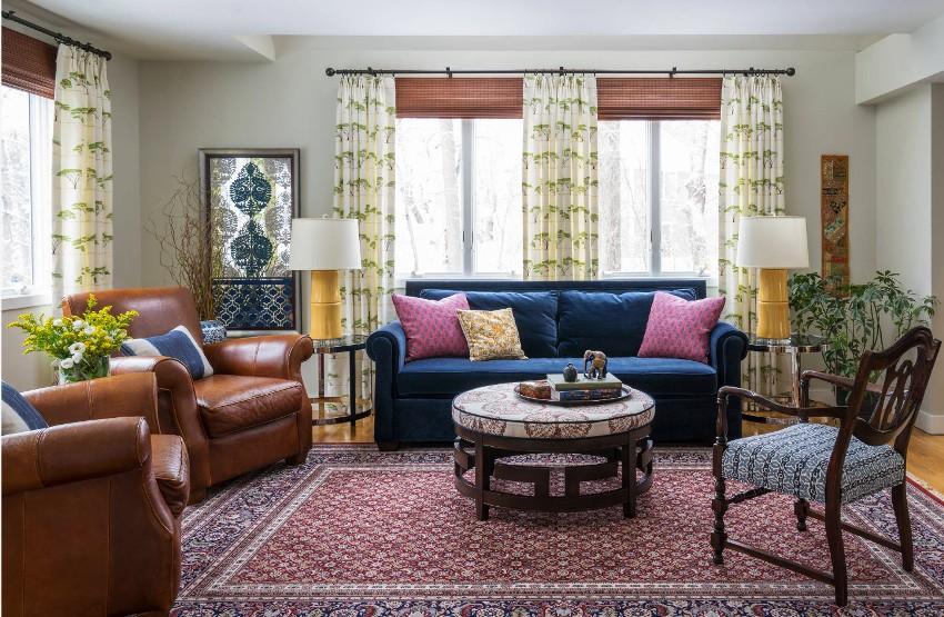 Оформить гостиную можно в разнообразных стилях, исходя из вкусовых предпочтений и финансовых возможностей