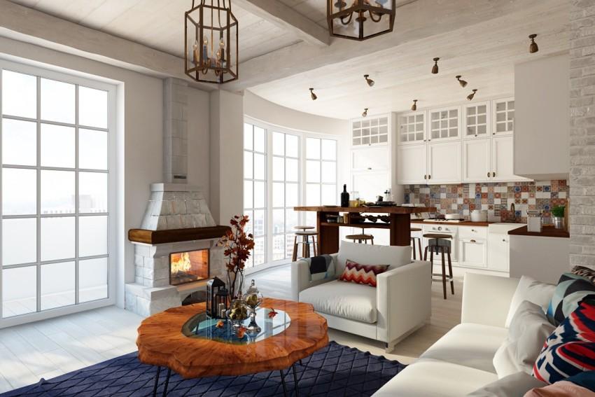 Скандинавский стиль может быть представлен, как в своем классическом варианте, так и в сочетании с элементами других стилей