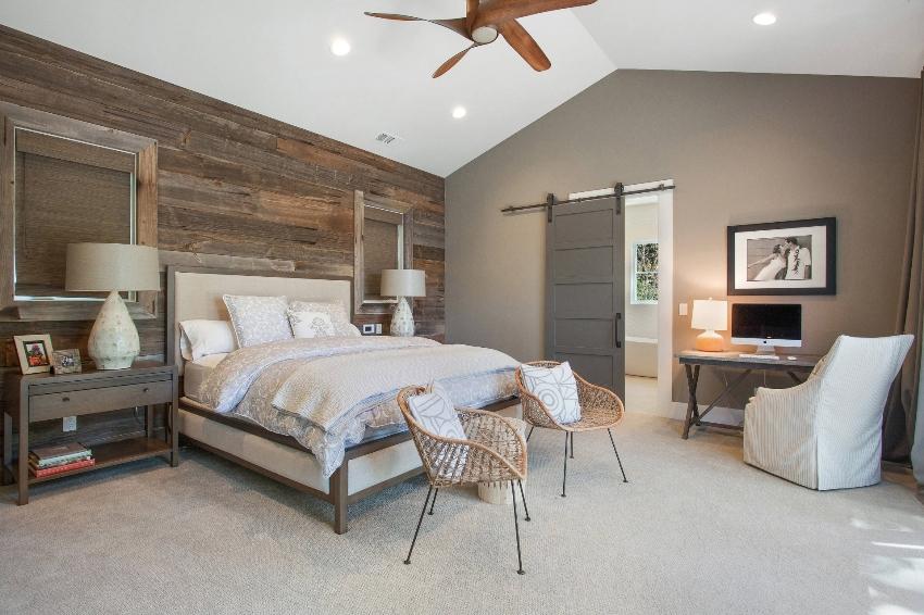 Спальня в скандинавском стиле – это просторная комната со светлой отделкой и минимальным набором мебели и декора
