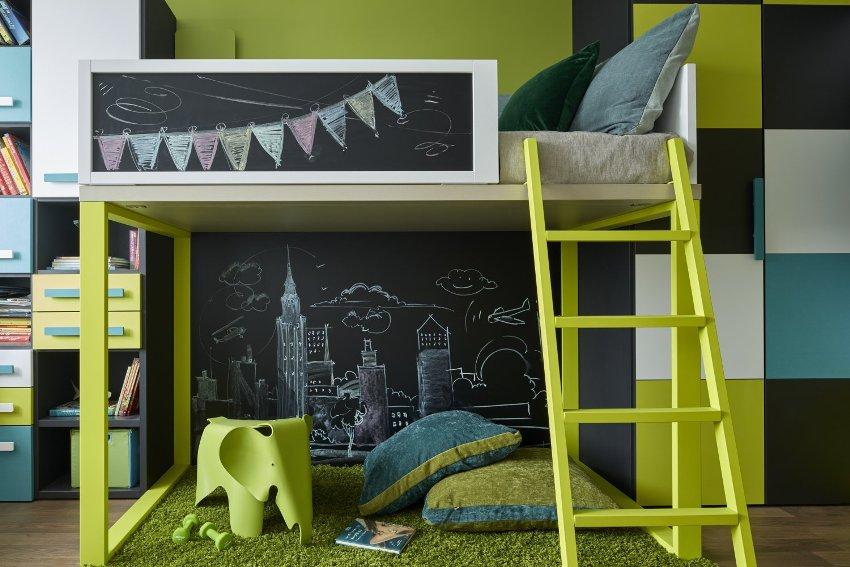 В оформлении детской спальни важно особое внимание уделить текстилю