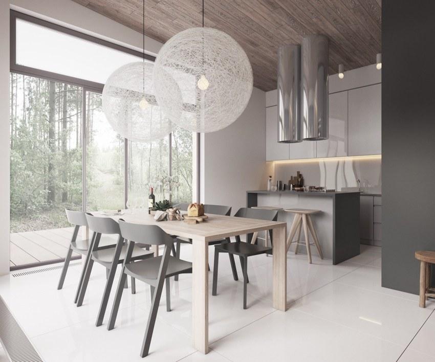 Основная задача создания интерьера в скандинавском стиле – обеспечение помещения максимальным количеством естественного света