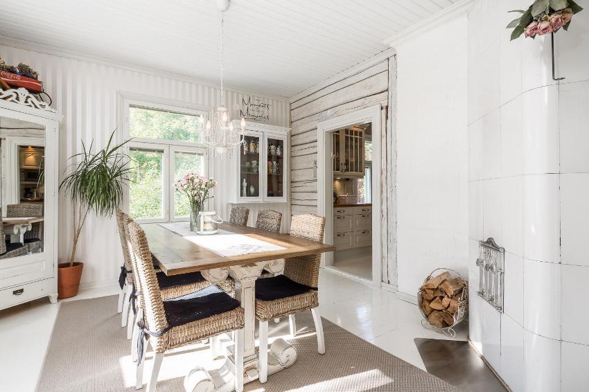Скандинавский стиль придется по душе ценителям минимализма и пространства в сочетании с холодными оттенками
