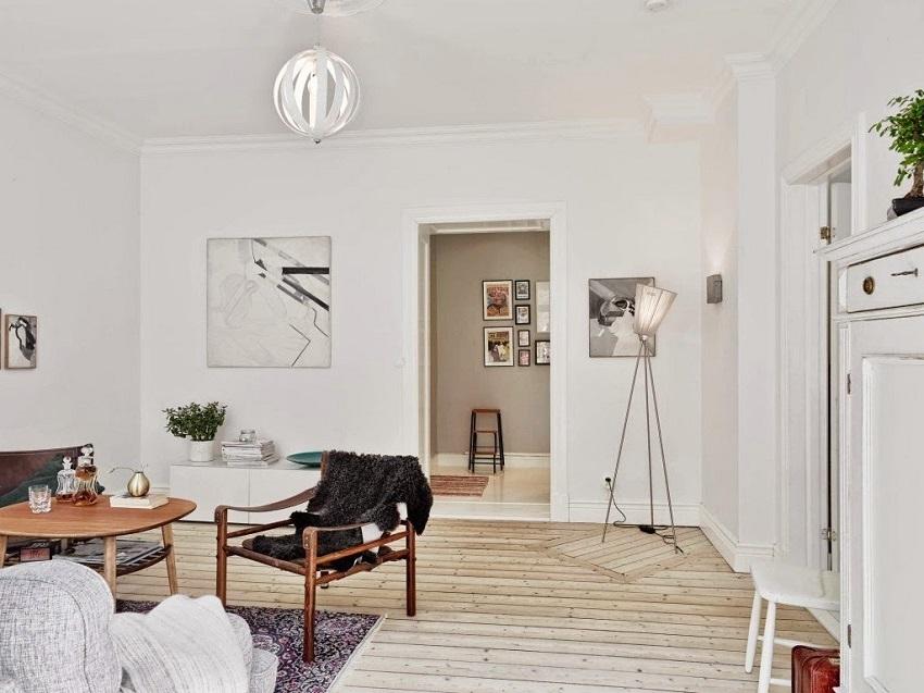 В гостиной должно находиться минимальное количество элементов мебели